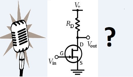 dynamic microphone amplifier circuit image